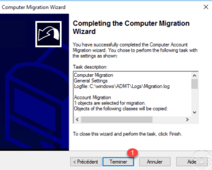ADMT - start computer migration