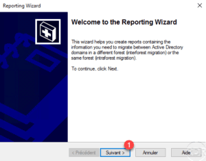 ADMT - wizard reporting