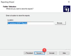 Folder save report