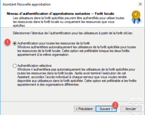 Niveau d'authentification d'approbation / Approval authentication level
