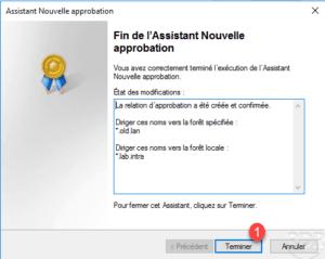 Active Directory : relation d'approbation entre deux forets / domaines