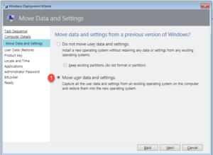 Select move user data