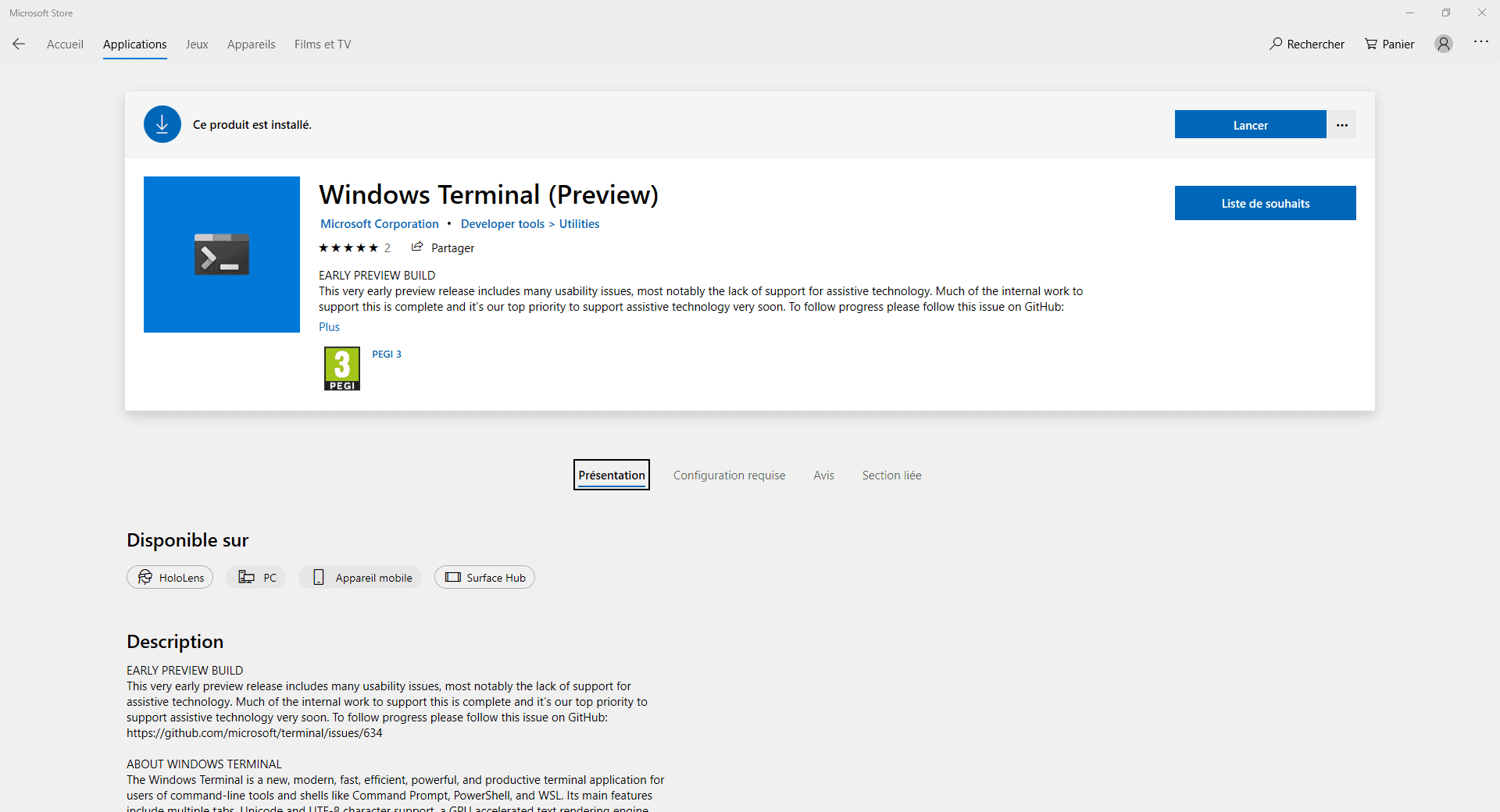 Windows Terminal disponible - RDR-IT