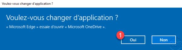 Confirm open OneDrive