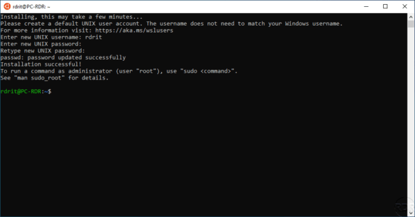 WSL - Ubuntu installed