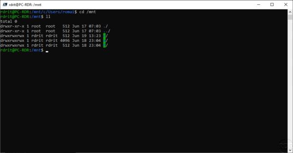 Disk WIndows in Ubuntu - WSL
