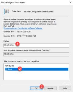 Configuration du sous-réseau / Subnet configuration