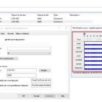 Changement de la fréquence du lien inter-site / Change in the frequency of the inter-site link