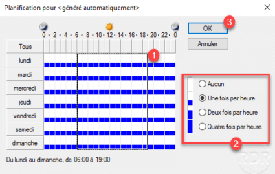 Changement de la fréquence du lien intra-site / Change in the frequency of the intra-site link
