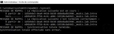repadmin /syncall