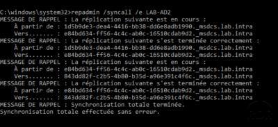 repadmin /syncall /e <RemoteDC>