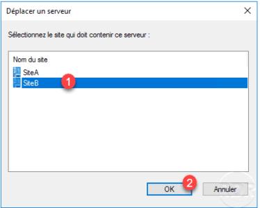 Sélectionner le site cible / Select the target site