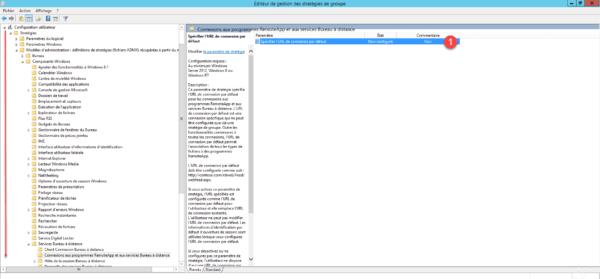 Configuration de la stratégie groupe / Group Policy Configuration