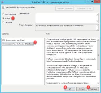 Configuration de l'URL du service RemoteApp / Configuring the RemoteApp Service URL