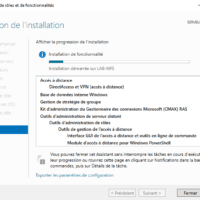Patienter pendant l'installation du serveur VPN / Wait while installing the VPN server