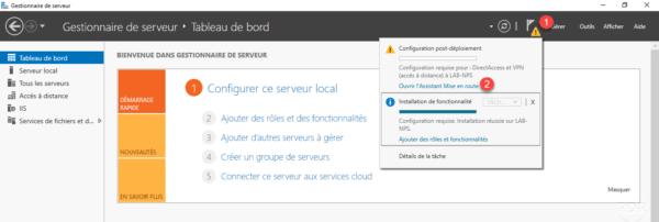 Ouvrir l'assistant de configuration du serveur VPN / Open the VPN Server Configuration Wizard