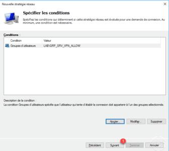 Conditions accès au serveur VPN ajoutées / VPN server access conditions added