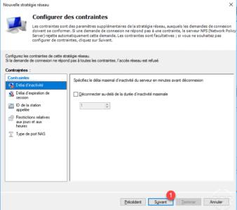 Configuration des contraintes d'accès au serveur VPN / Configuring access constraints to the VPN server