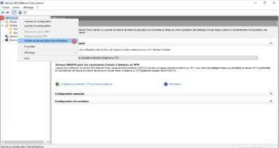 Inscription du serveur NPS dans l'AD pour la gestion des accès au serveur VPN / Register the NPS server in the AD for VPN server access management