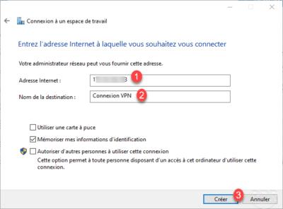 Adresse du serveur VPN / VPN server address