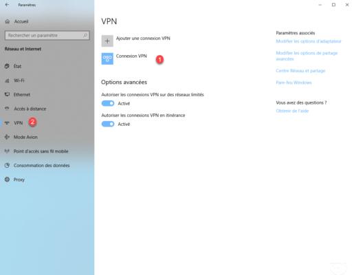 Connexion VPN ajoutée / VPN connection added