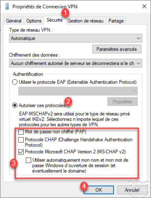 Sécurité de la connexion VPN / VPN connection security