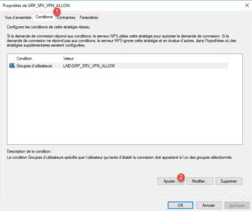 Ajouter une condition au serveur VPN / Add a condition to the VPN server