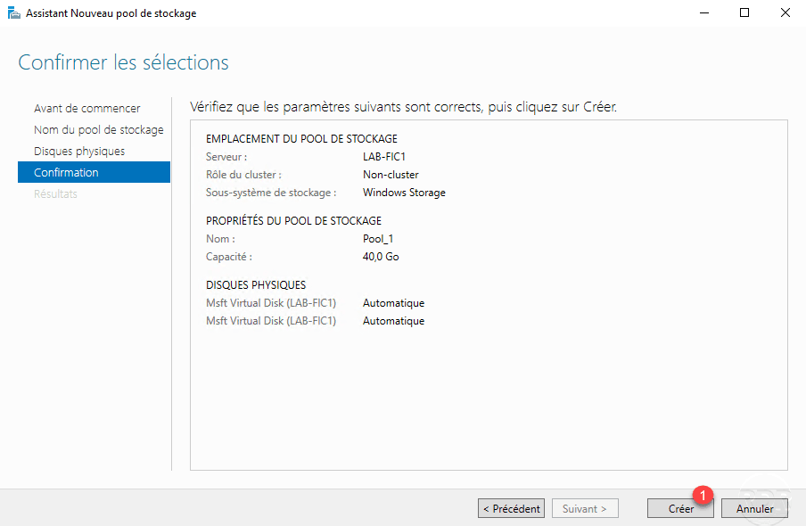 Storage Pool Configuration on Windows Server - RDR-IT