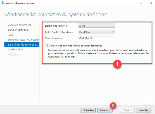 Configure the file system