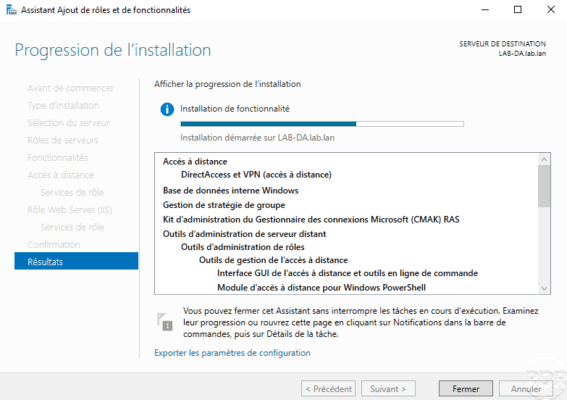 DirectAccess being installed
