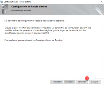 Confirm config DirectAccess