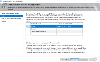Param DNS NRPT for DirectAccess