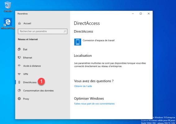 Windows 10 DirectAccess