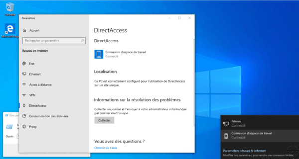 Computer connected by DirectAccess