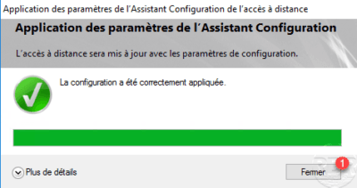 Configuration applied to DirectAccess