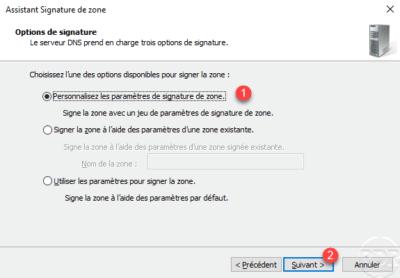 DNSSEC signature options