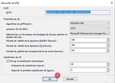 DNSSEC - key ZSK param