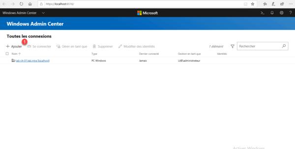 Windows Admin Center add server