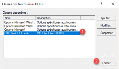 class dhcp added