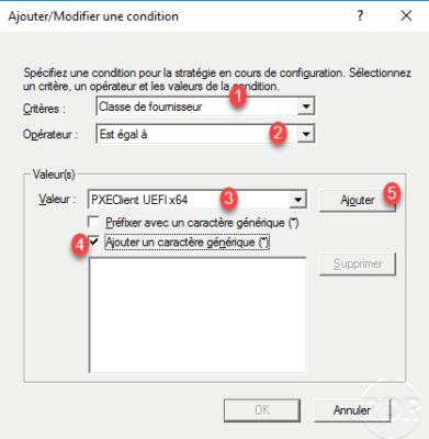 Condition configuration