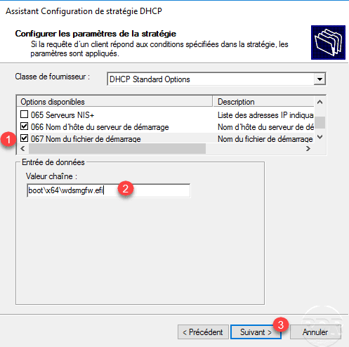 WDS: DHCP configuration for UEFI - RDR-IT
