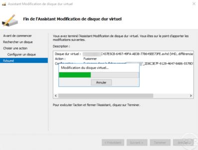 Wait during merging disk