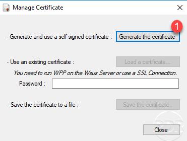WPP generate certificate