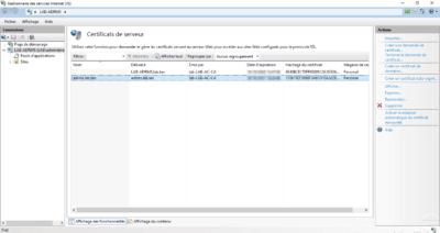 IIS certificate installed