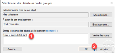 Select group or user