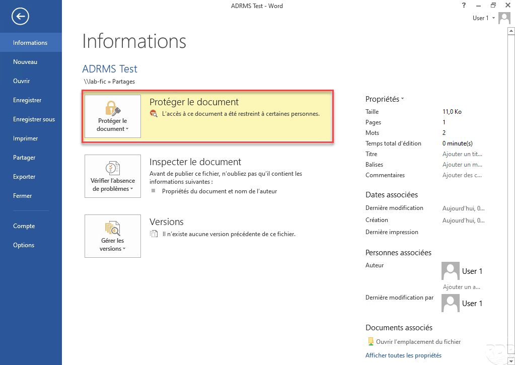 Active Directory Right Management Services : installation et configuration