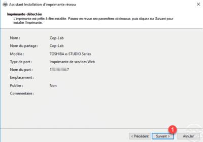 Confirm install printer