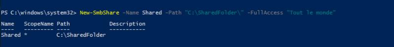 New-SmbShare - PowerShell