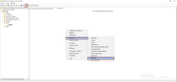 Nouveau utilisateur Active Directory