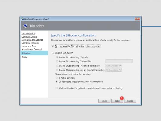 BitLocker configuration